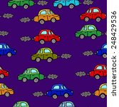 seamless pattern of baby car | Shutterstock .eps vector #248429536