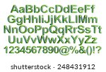 3d green standard font for... | Shutterstock . vector #248431912