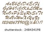 3d gold metallic standard font ... | Shutterstock . vector #248434198
