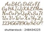 3d gold metallic standard font ... | Shutterstock . vector #248434225