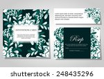 set of invitations with floral... | Shutterstock .eps vector #248435296