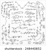 set of hand drawn corners and... | Shutterstock .eps vector #248440852
