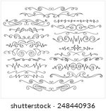 vector set of hand drawn... | Shutterstock .eps vector #248440936