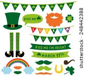 st. patrick's day vector design ... | Shutterstock .eps vector #248442388