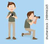 male photographer vector  | Shutterstock .eps vector #248446165