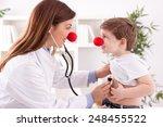 Smiling Female Doctor Clown...