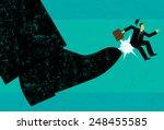 getting fired a businessman...   Shutterstock .eps vector #248455585