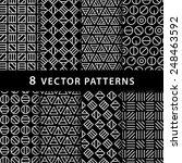 geometric vector pattern pack | Shutterstock .eps vector #248463592