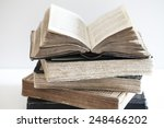stack of old books | Shutterstock . vector #248466202