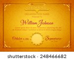 golden classic certificate with ... | Shutterstock .eps vector #248466682