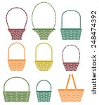 stylized baskets isolated on... | Shutterstock .eps vector #248474392