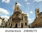 Paris,France - August 22: Cathedral in Paris,France, 22th August 2008 - stock photo