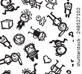 seamless pattern with funny...   Shutterstock .eps vector #248527102
