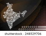 high detailed vector map   india | Shutterstock .eps vector #248529706