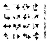 arrow buttons set | Shutterstock .eps vector #248555452