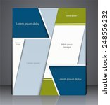 vector layout business brochure ... | Shutterstock .eps vector #248556232