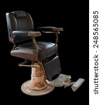 old vintage barber chair on... | Shutterstock . vector #248565085