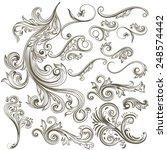 vector set of swirl elements... | Shutterstock .eps vector #248574442