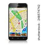 gps satellite navigation ... | Shutterstock . vector #248574742