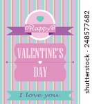 happy valentines day card with... | Shutterstock .eps vector #248577682