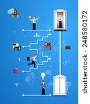 vector illustration of teamwork ... | Shutterstock .eps vector #248580172