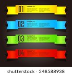 colorful modern text box... | Shutterstock .eps vector #248588938