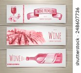 set of art wine banners and... | Shutterstock .eps vector #248607736