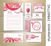 watercolor wine concept design. ... | Shutterstock .eps vector #248607742