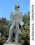 statue of the big czech painter ...   Shutterstock . vector #248609656