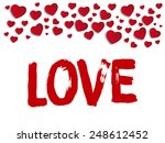 vector   valentine day i love... | Shutterstock .eps vector #248612452