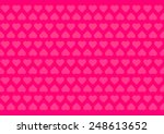 Pink Background With Hearts Fo...