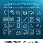 linear vector web icons set on ...