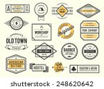 Stock vector set of vintage logos badges and labels vector illustration 248620642