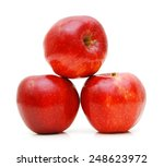 red apples isolated on white... | Shutterstock . vector #248623972