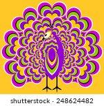 peacock in love  optical... | Shutterstock .eps vector #248624482