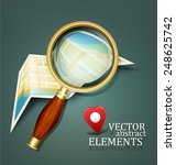 vector background with a map... | Shutterstock .eps vector #248625742