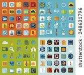 set of medical flat icons | Shutterstock .eps vector #248631796