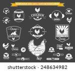 vector chicken logos  labels ... | Shutterstock .eps vector #248634982