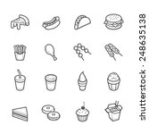 fast food icons | Shutterstock .eps vector #248635138