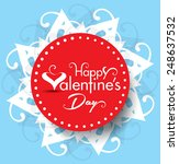 vector valentine day text... | Shutterstock .eps vector #248637532