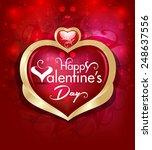 vector valentine day ... | Shutterstock .eps vector #248637556