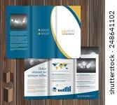 classic blue brochure template... | Shutterstock .eps vector #248641102