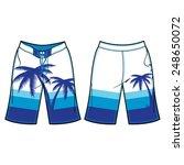 men board shorts vector template | Shutterstock .eps vector #248650072