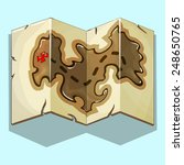 treasure map. vector...