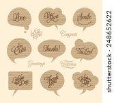 paper cloud design element and... | Shutterstock .eps vector #248652622