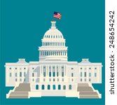 united states capitol symbol of ... | Shutterstock .eps vector #248654242