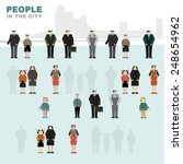 simple vector figures of people.... | Shutterstock .eps vector #248654962