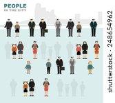 simple vector figures of people.... | Shutterstock .eps vector #248654962