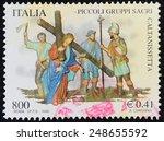italy   circa 2000 a stamp... | Shutterstock . vector #248655592