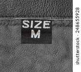 gray leather texture  seam  tag ... | Shutterstock . vector #248655928